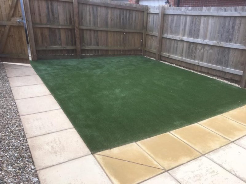 New Artificial Grass and Paving