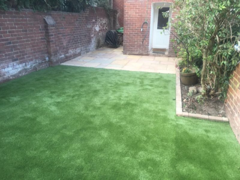 New Installed Space Grass