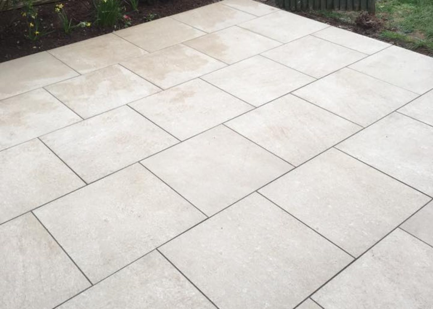 Newly Installed Home Garden Paving