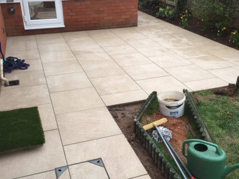 Garden Paving Finished