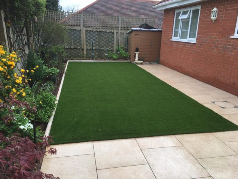 Newly Laid Artificial Grass