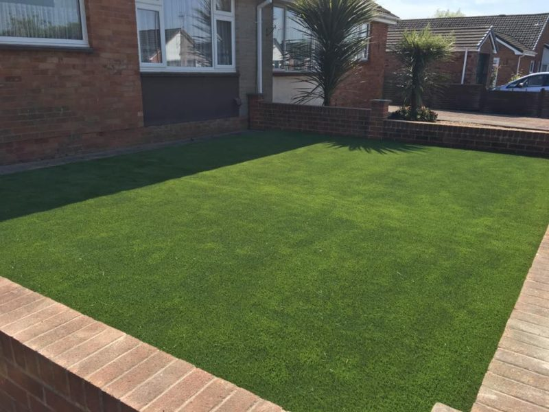 Installed Artificial Grass Lawn