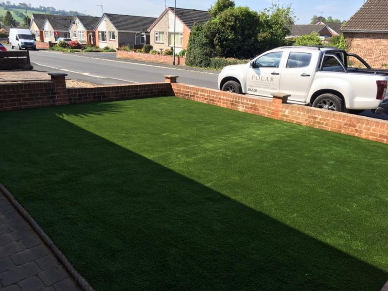 Front of House New Artificial Lawn