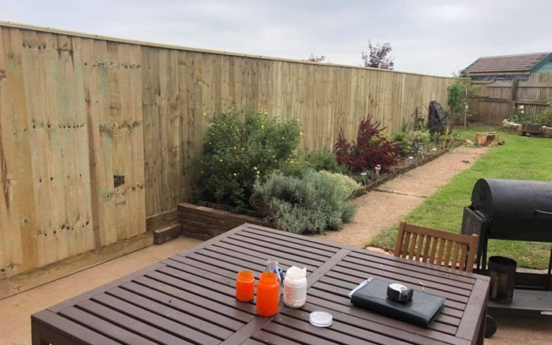 Garden Boundary Wooden Fencing