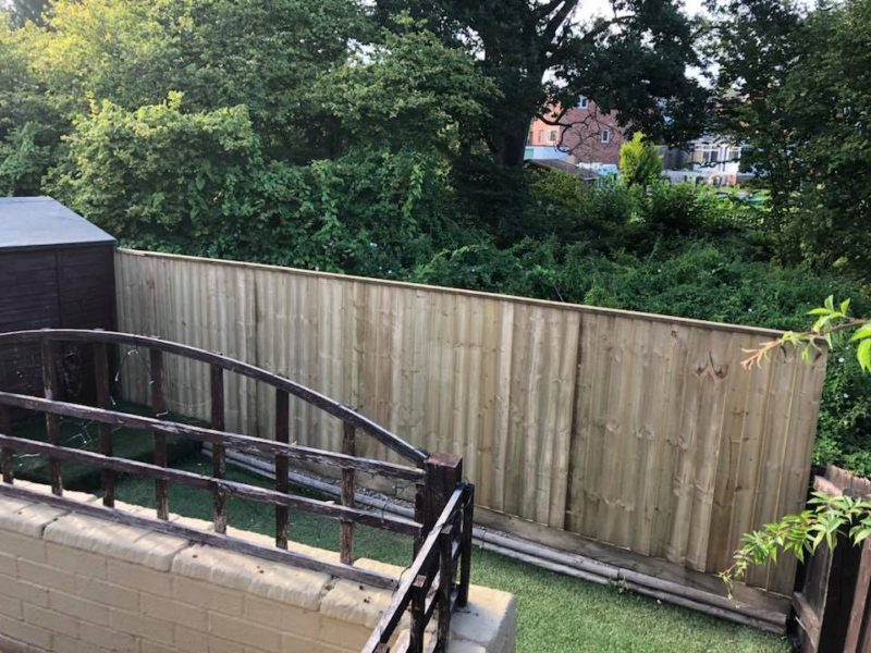 Wooden Fencing and Artificial Grass