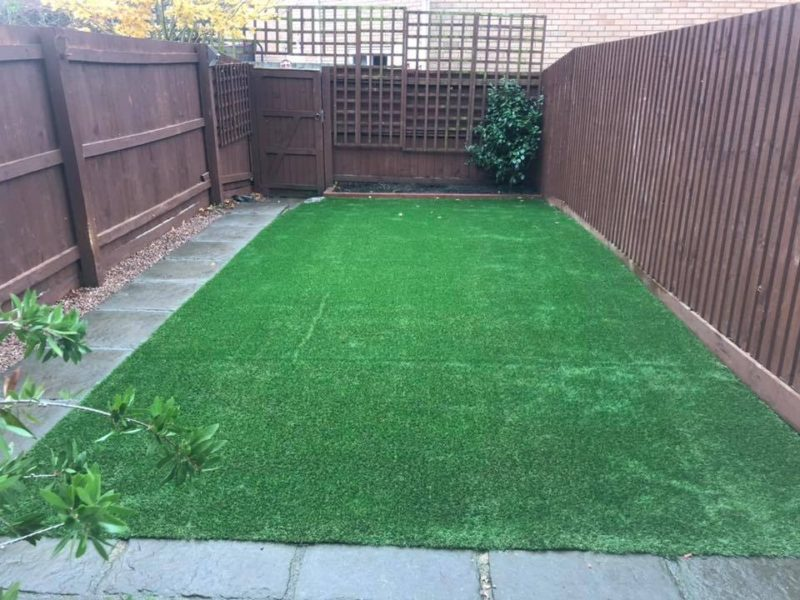 Artificial Grass and New Fencing