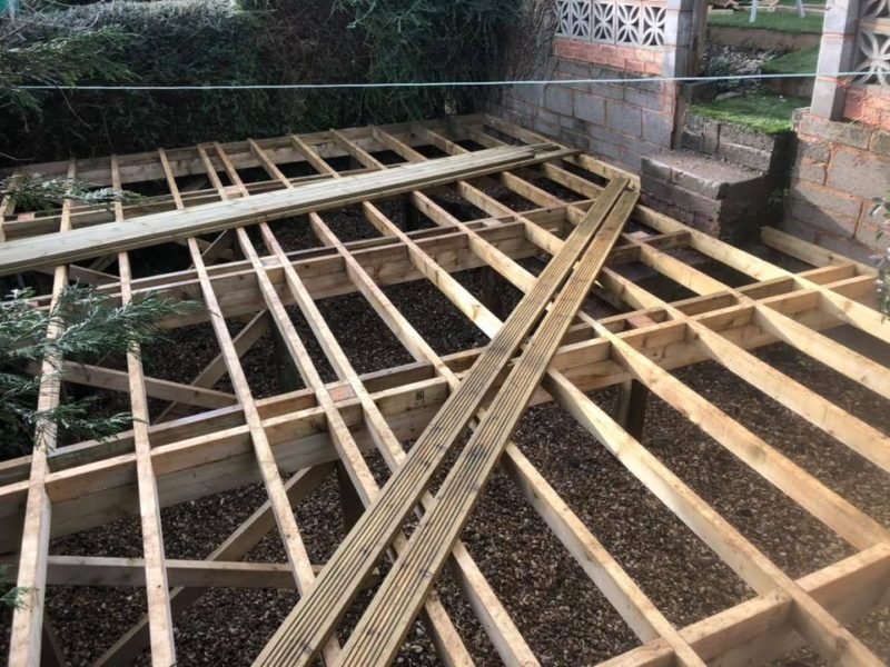 New Decking Foundations
